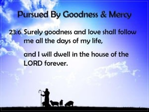 testimony tuesday: the Lord pursued me