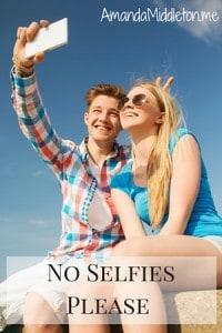 No Selfies Please