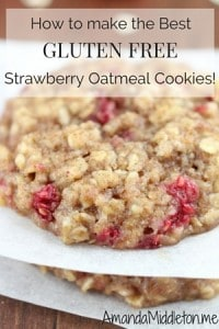 How to make the Best gluten free strawberry Oatmeal cokkies