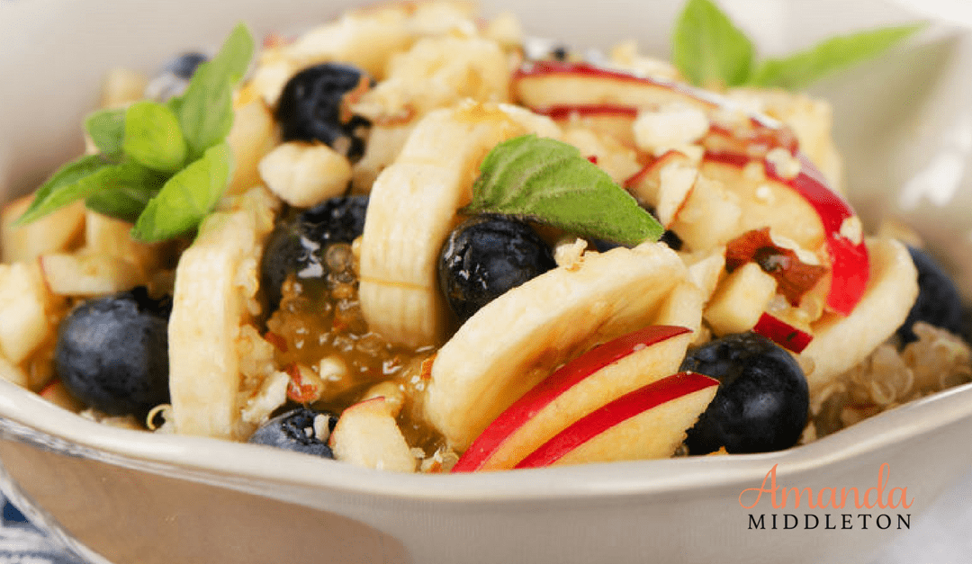 Apple Pie Quinoa Breakfast Bowl That Has the Kids Asking for More