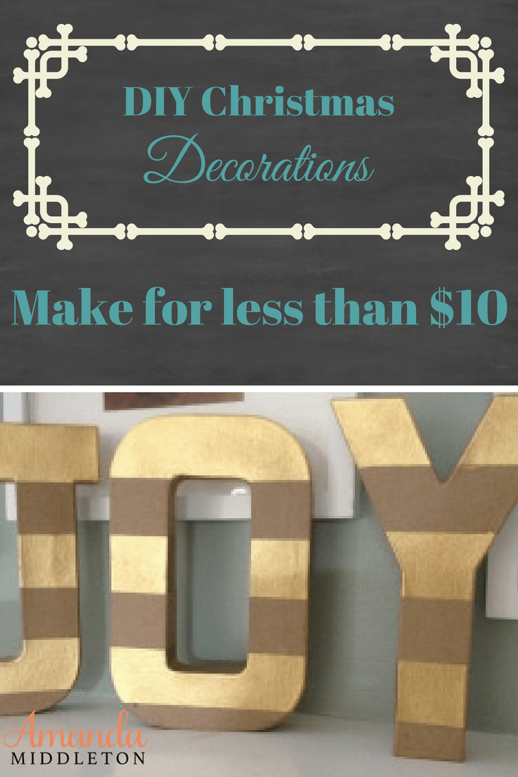Do-it-Yourself Frugal but Beautiful Christmas Decorations