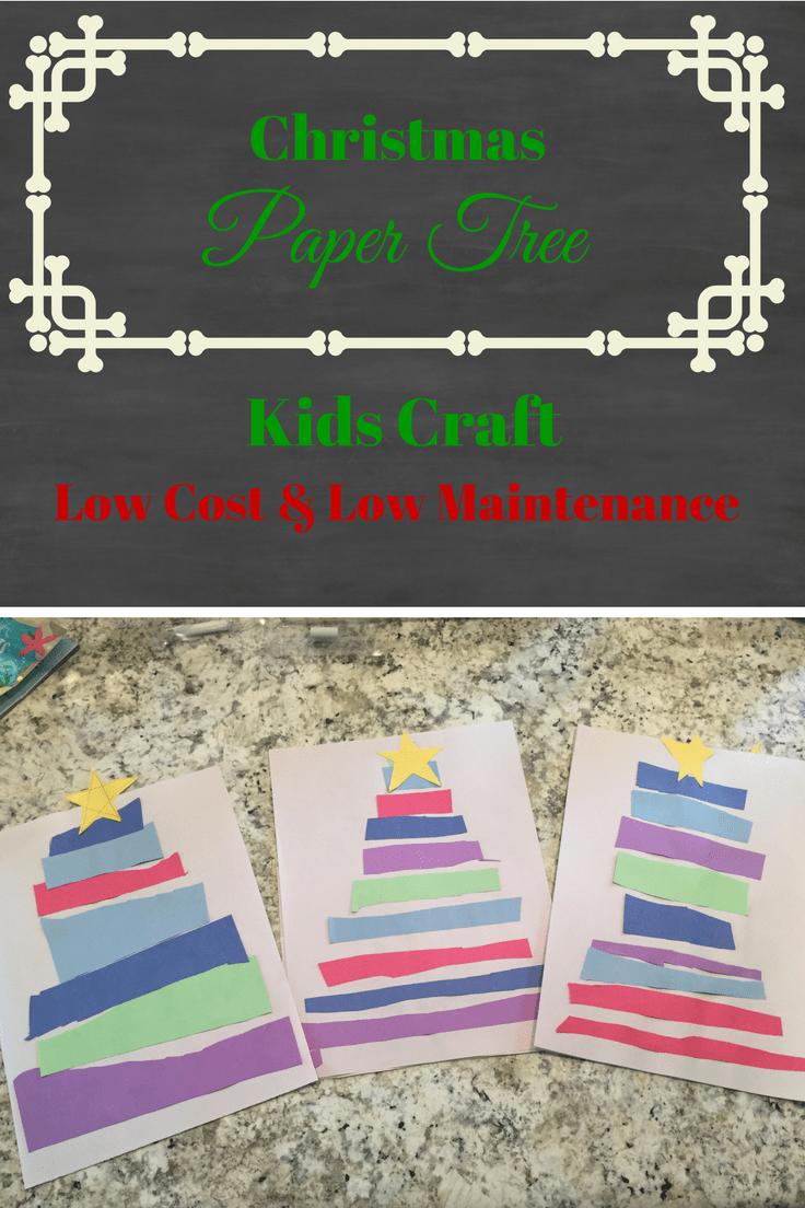 Christmas Paper Tree Kids' Craft