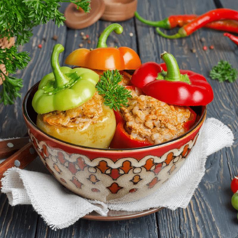 Healthy Crockpot Stuffed Peppers