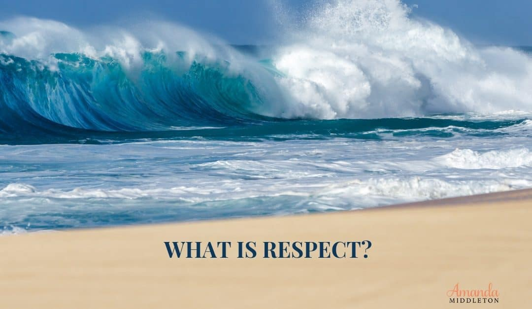 Respect is…