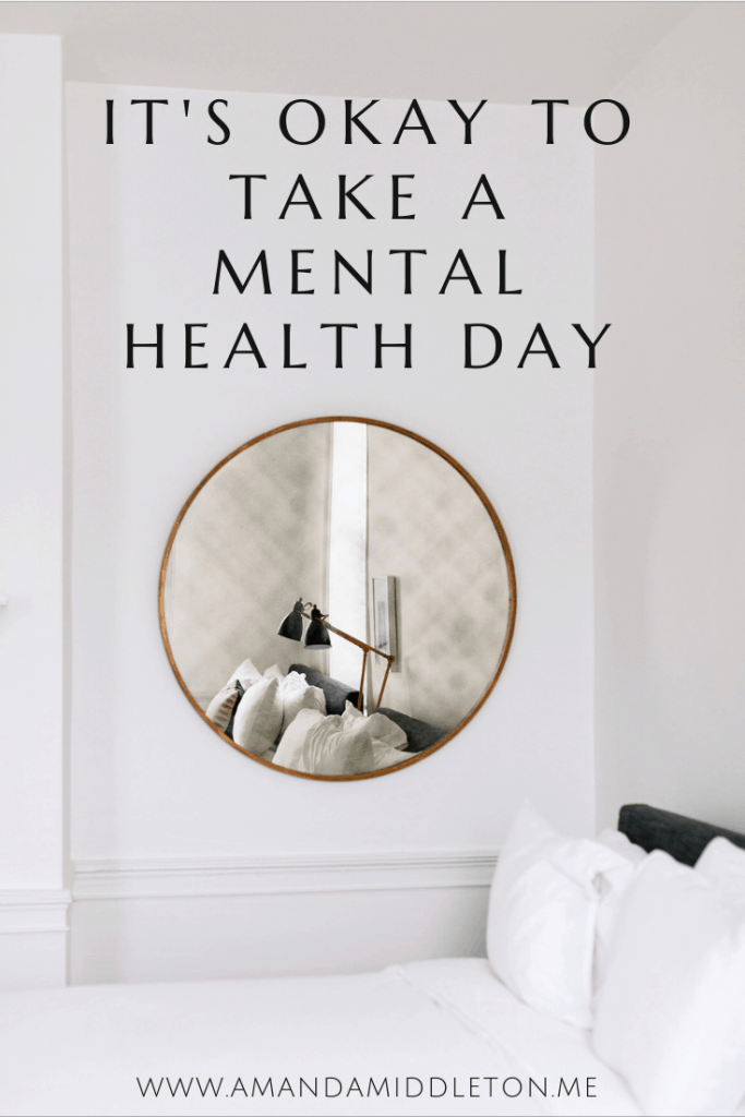 It's Okay to Take a Mental Health Day