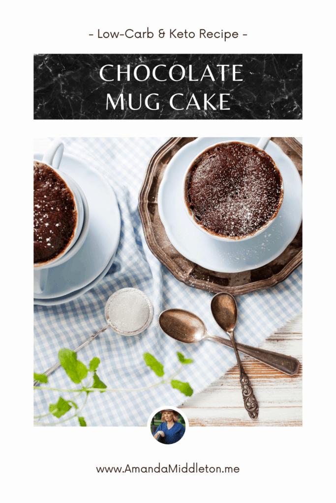 Low Carb and Keto Chocolate mug cake