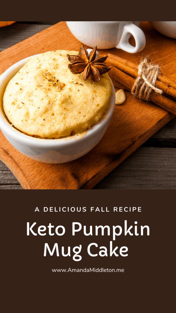 Keto Pumpkin Mug Cake Fall Recipe